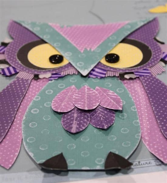 Owl from printable cutouts