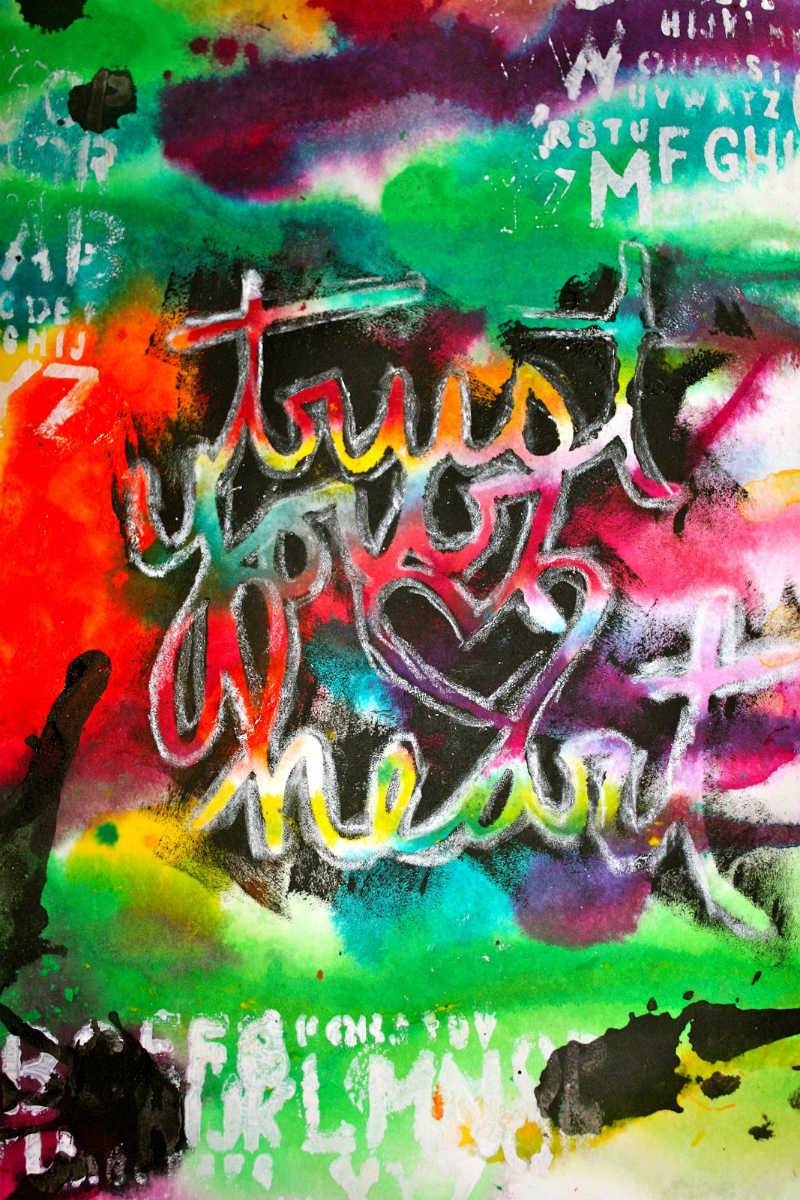 Trust Your Heart mixed media