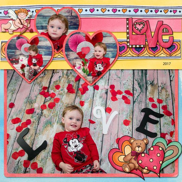 10 Beautiful Valentine's Day Scrapbook Layouts