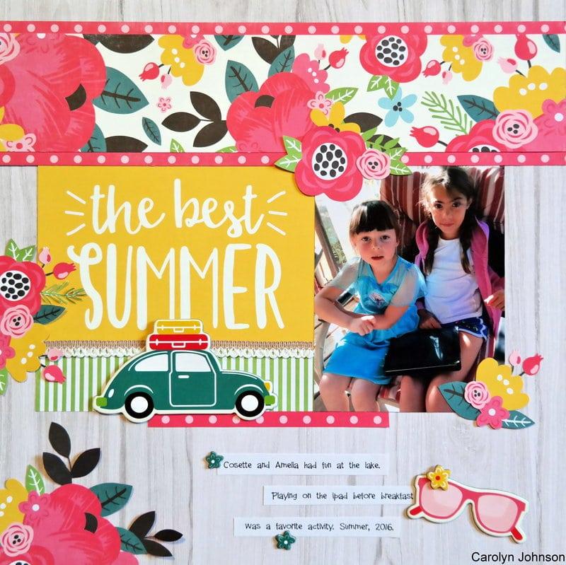 July 2018 Summer Layout Inspiration Scrapbooking Store