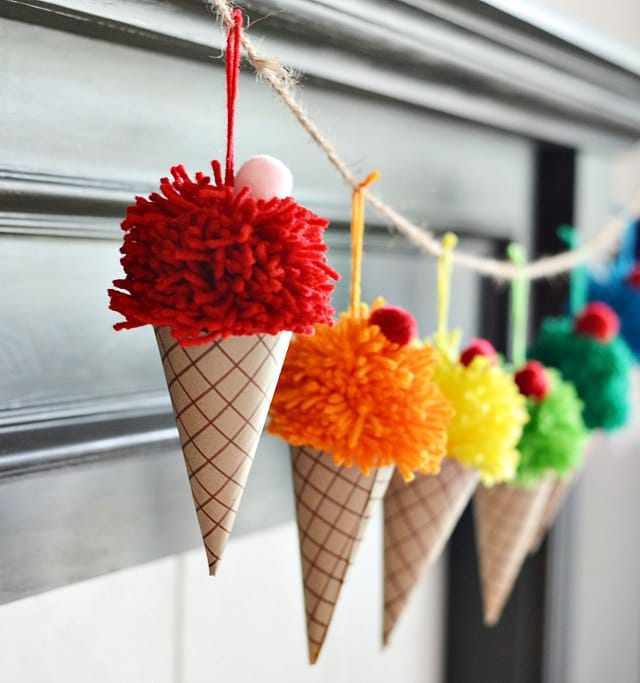 Ice Cream Cone Garland | DIY Summer Crafts