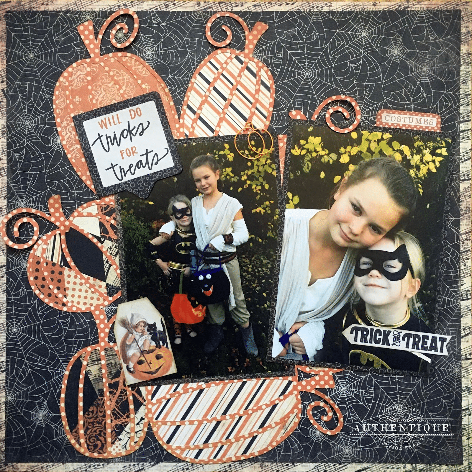 October 2018 Scrapbook Layout
