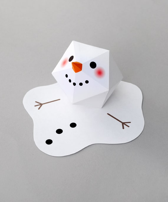 Melting Paper Snowman Kid Craft
