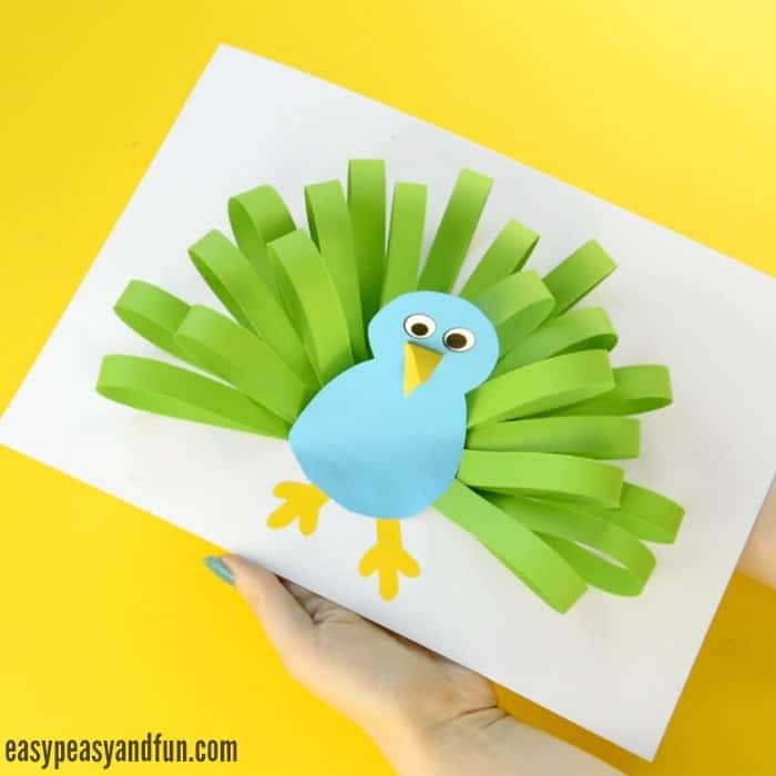 Paper Peacock Kids Craft
