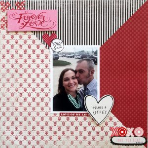 Forever in Love Valentine's Layout