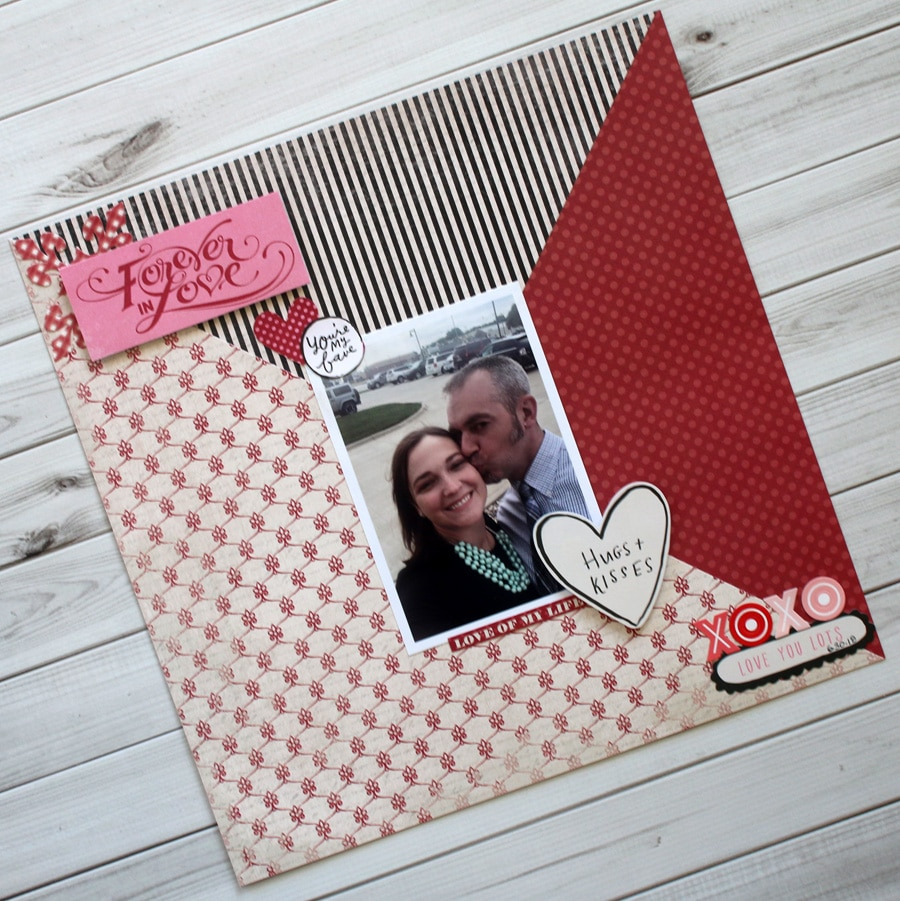 Forever in Love Valentine's Scrapbook Layout