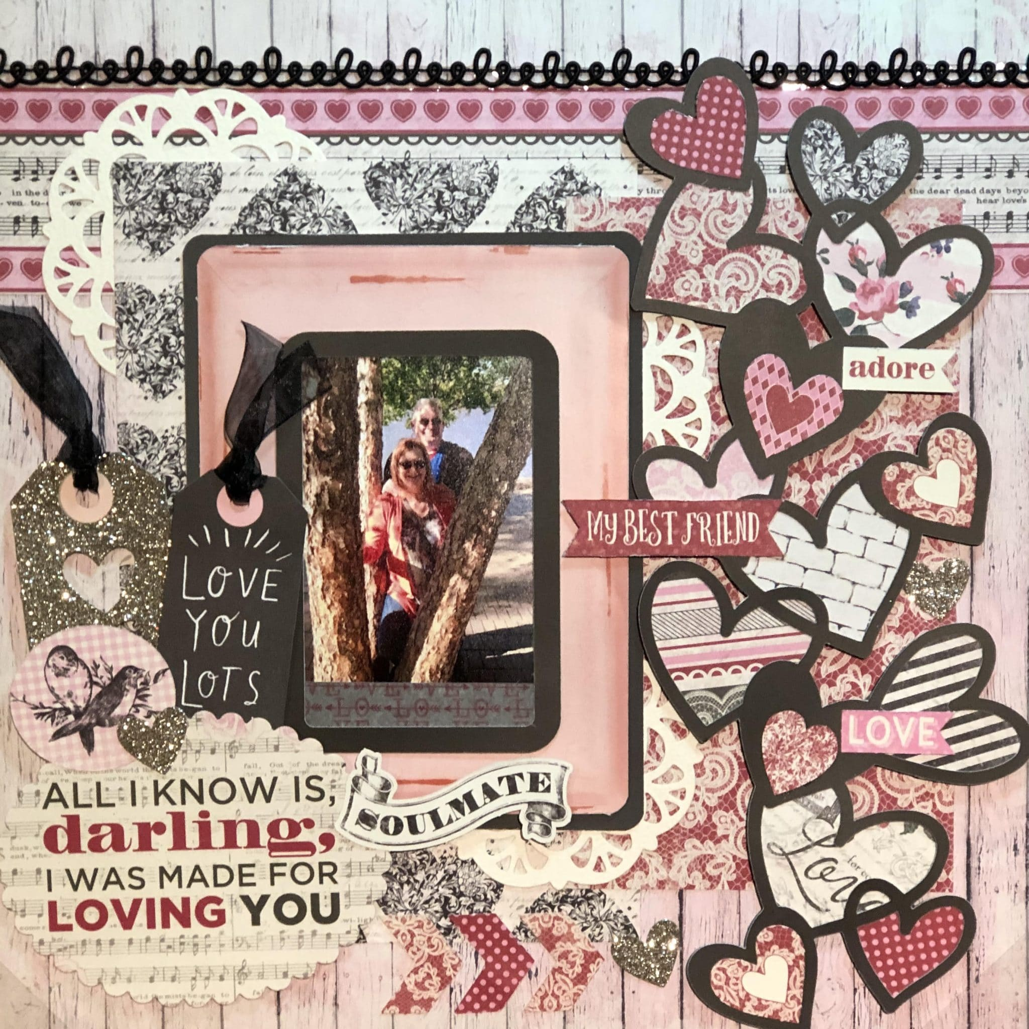 'Darling' Valentine's Layout Idea