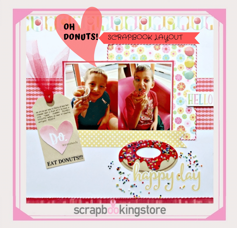 Scrapbook Ideas - Donuts Theme
