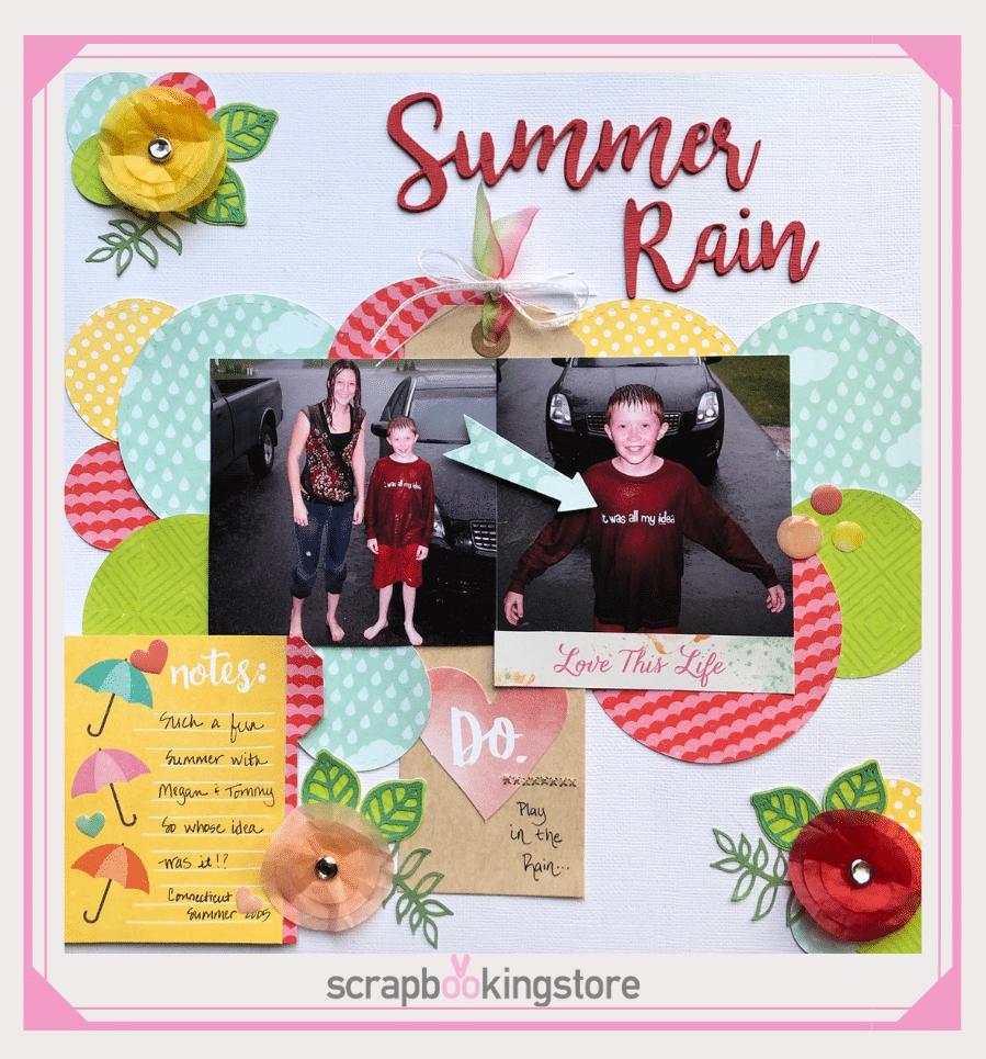 Summer Rain Scrapbook Layout