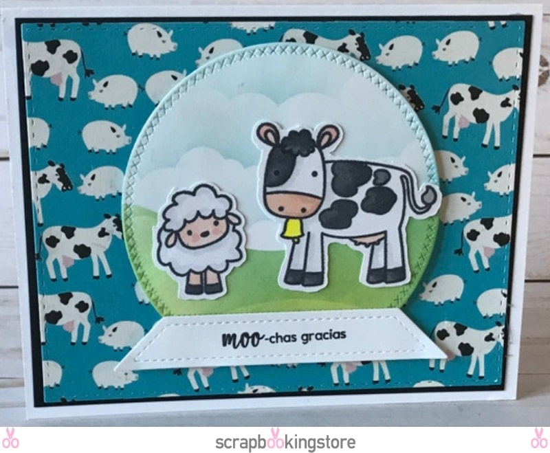 DIY Recipe Themed Cards - Cow card by Cindy using ScrapbookingStore April 2019 monthly kit