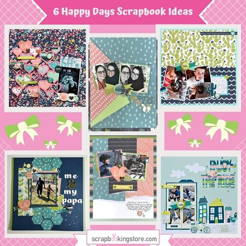 "ScrapbookingStore May 2019 kit - Our Design Team members used all crafting materials from our May 2019 monthly kit called ""Happy Days"" collection by My Mind's Eye, which also includes Dear Lizzy ""Oh Hello"" from the Lovely Day collection and Maggie Holmes ""Summertime"" from the Carousel collection"