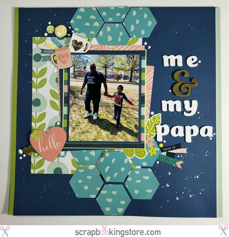 "ScrapbookingStore May 2019 kit - Becky used all crafting materials from our May 2019 monthly kit called ""Happy Days"" collection by My Mind's Eye, which also includes Dear Lizzy ""Oh Hello"" from the Lovely Day collection and Maggie Holmes ""Summertime"" from the Carousel collection"