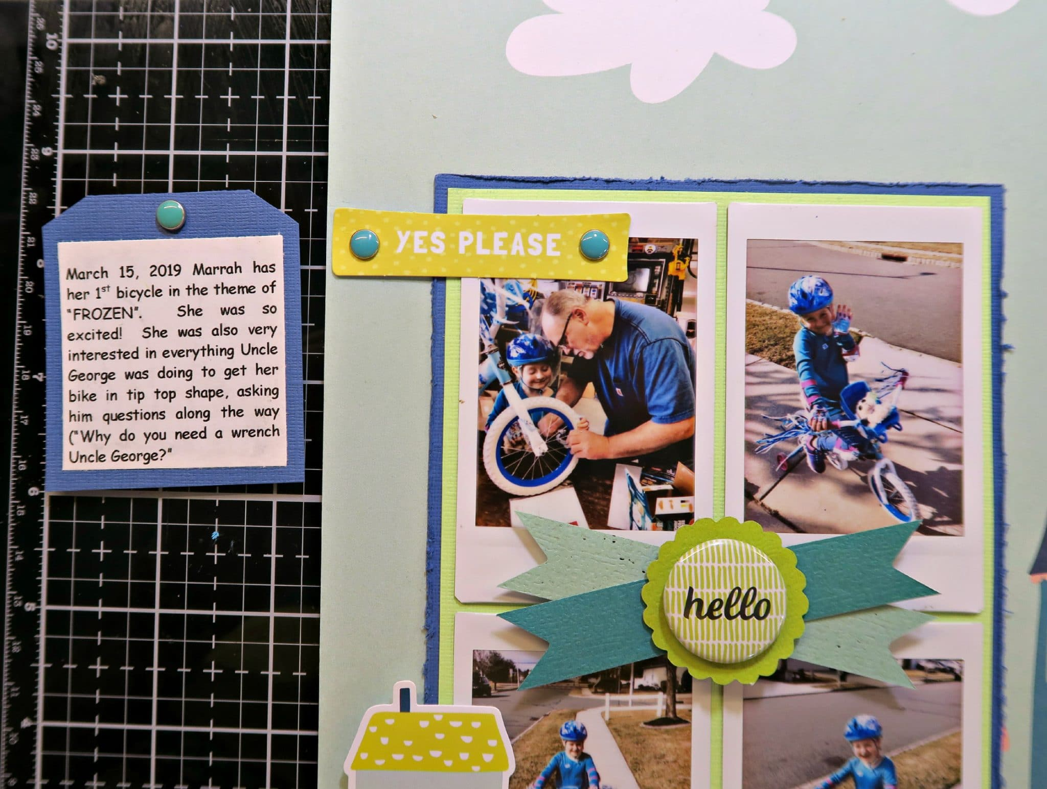 "ScrapbookingStore May 2019 kit - Marci used all crafting materials from our May 2019 monthly kit called ""Happy Days"" collection by My Mind's Eye, which also includes Dear Lizzy ""Oh Hello"" from the Lovely Day collection and Maggie Holmes ""Summertime"" from the Carousel collection"