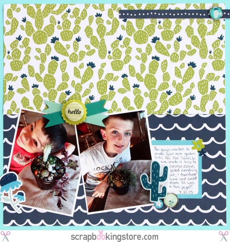 "ScrapbookingStore May 2019 kit - Sam used all crafting materials from our May 2019 monthly kit called ""Happy Days"" collection by My Mind's Eye, which also includes Dear Lizzy ""Oh Hello"" from the Lovely Day collection and Maggie Holmes ""Summertime"" from the Carousel collection"