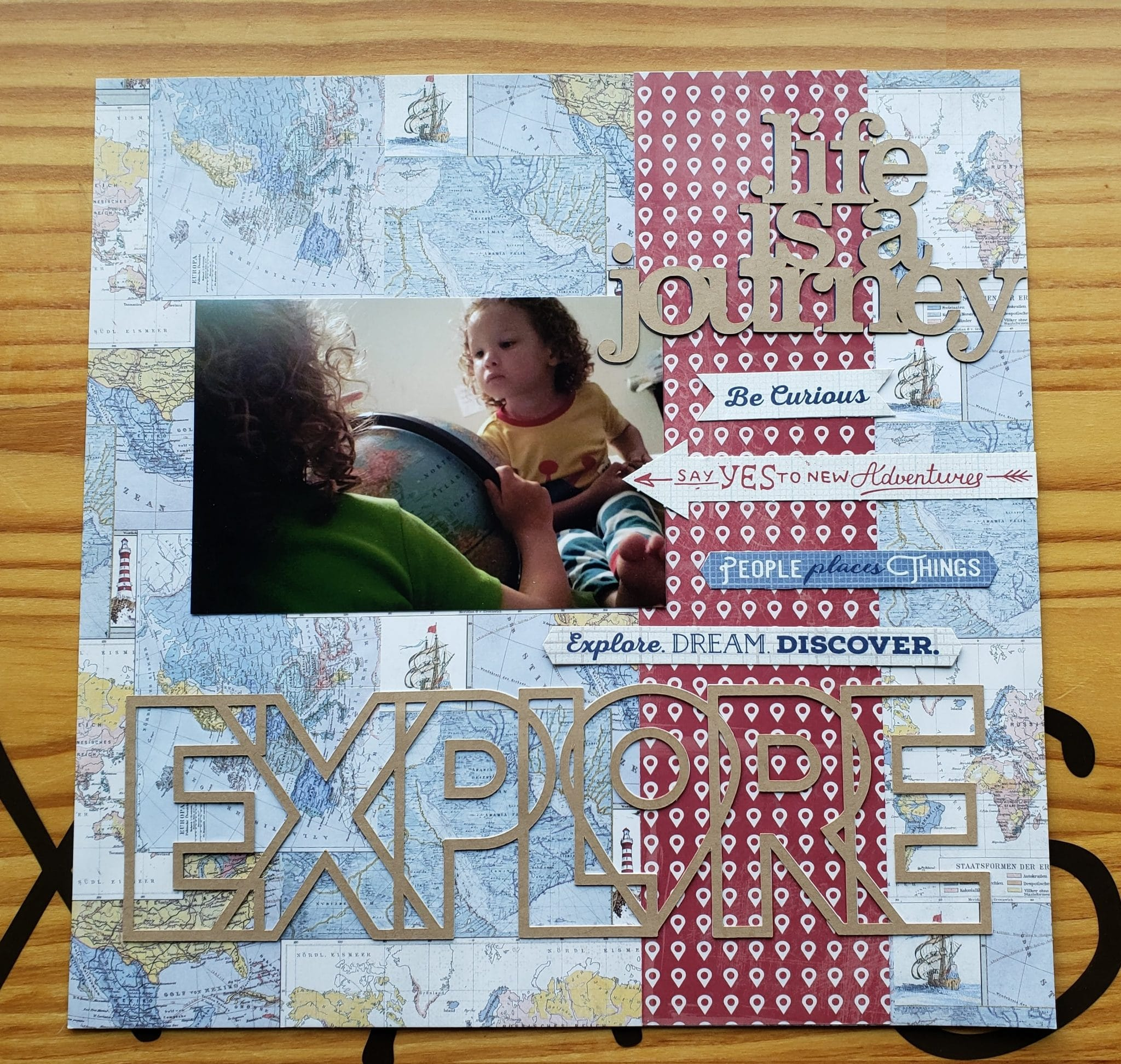 """ScrapbookingStore June 2019 kit - Our Design Team members used all crafting materials from our June 2019 monthly kit called """"Quest"""" collection by Authentique"""