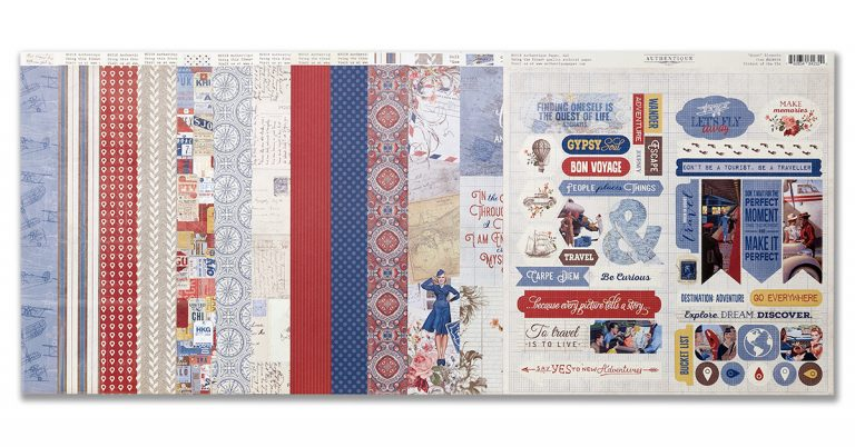 ScrapbookingStore - Quest Collection - Authentique Scrapbooking Kit