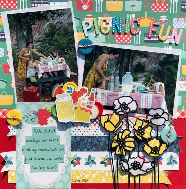 """ScrapbookingStore August 2019 kit - Our Design Team members used all crafting materials from our August 2019 monthly kit called """"Good Day Sunshine"""" by Echo Park"""