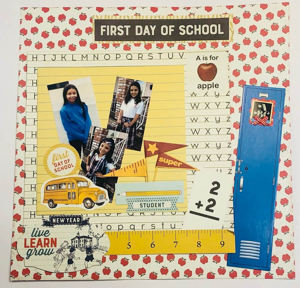 """ScrapbookingStore September 2019 kit - Our Design Team members used all crafting materials from our September 2019 monthly kit called """"Scholastic"""" by Authentique"""