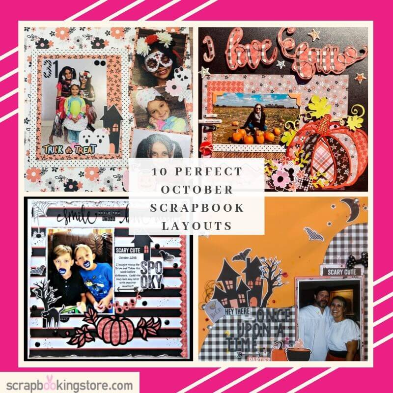 10 Perfect October Scrapbook Layouts