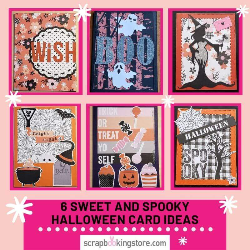 ScrapbookingStore October 2019 kit - Our Design Team members used all crafting materials from our October 2019 monthly kit called Happy Haunting collection by Simple Stories to make these 6 SWEET AND SPOOKY HALLOWEEN CARD IDEAS