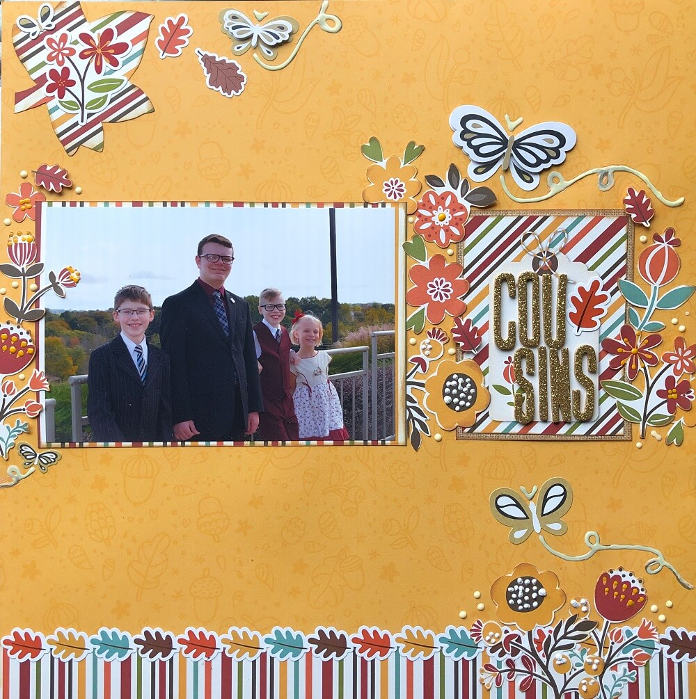 ScrapbookingStore November Fall Layout Ideas - Our Design Team members used all crafting materials from our November 2019 monthly kit called Celebrate Autumn by Echo Park.