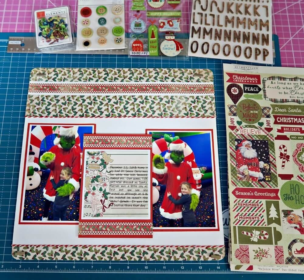 ScrapbookingStore December 2019 kit - Our Design Team members used all crafting materials from our December 2019 monthly kit called Rejoice Collection by Authentique.