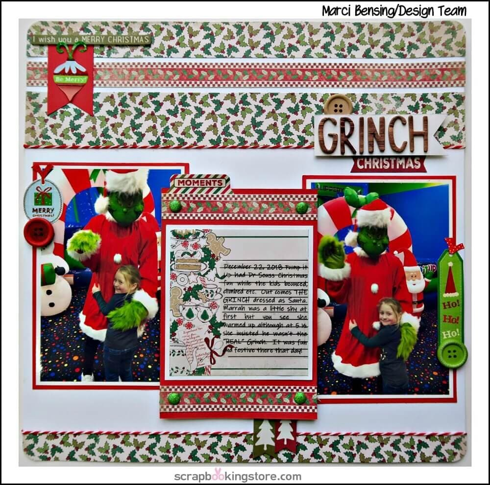 ScrapbookingStore December 2019 kit - Our Design Team members used all crafting materials from our December 2019 monthly kit called Rejoice Collection by Authentique. 6 December Scrapbooking Layouts