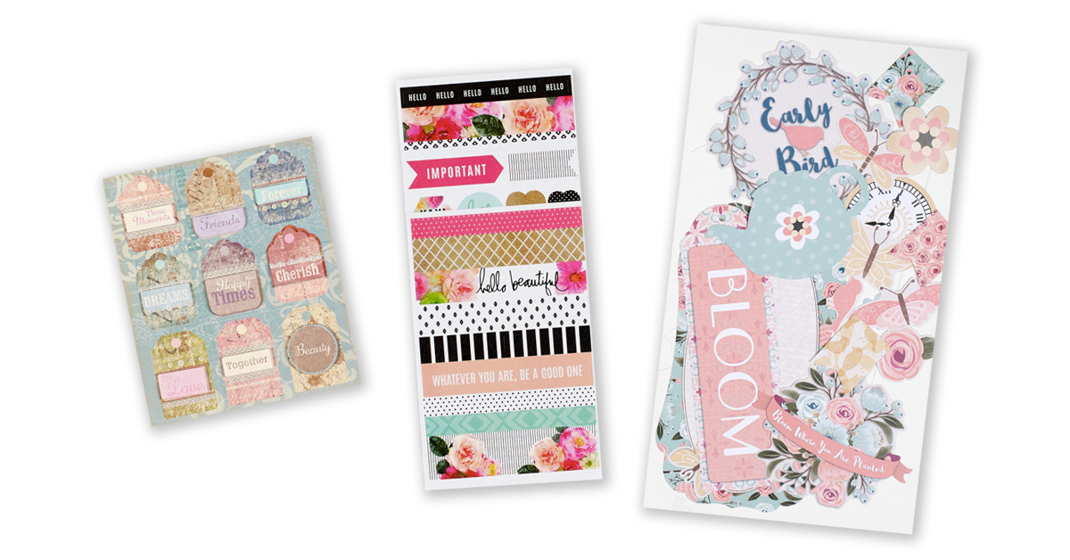 ScrapbookingStore February 2020 monthly kit called Flower Market collection by Echo Park