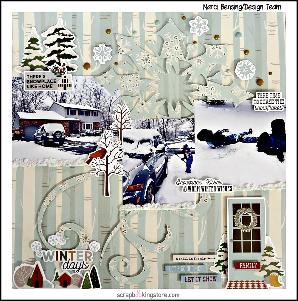 ScrapbookingStore - Our Design Team members used all crafting materials from our January 2020 monthly kit called Winter Farmhouse Collection by Simple Stories.