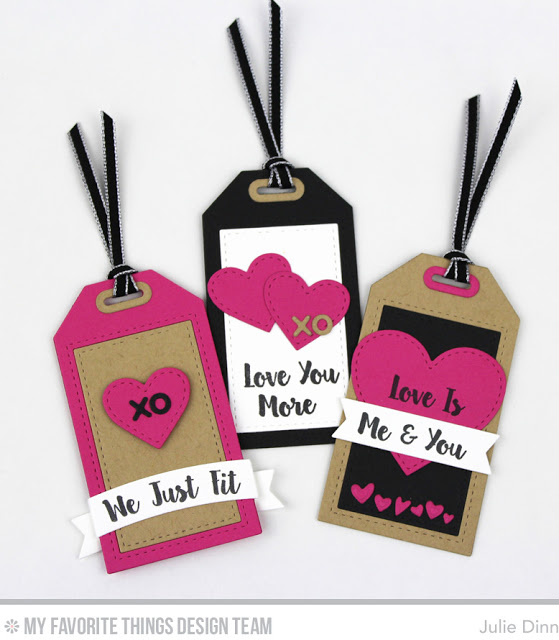 Different cardstock printable Valentine's Day Gift Tags