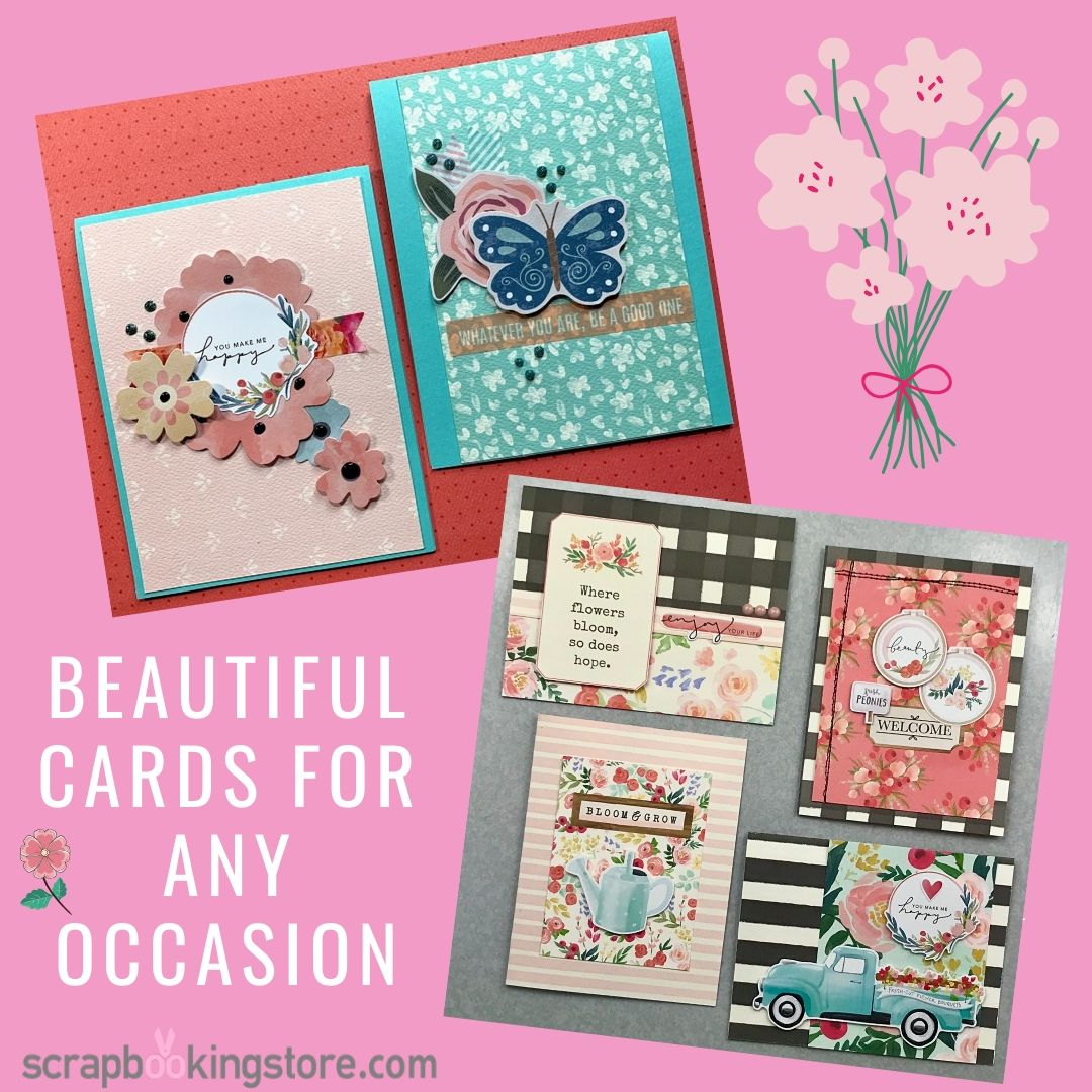 ScrapbookingStore - Our Design Team members used all crafting materials from our February 2020 monthly kit called Flower Market collection by Echo Park