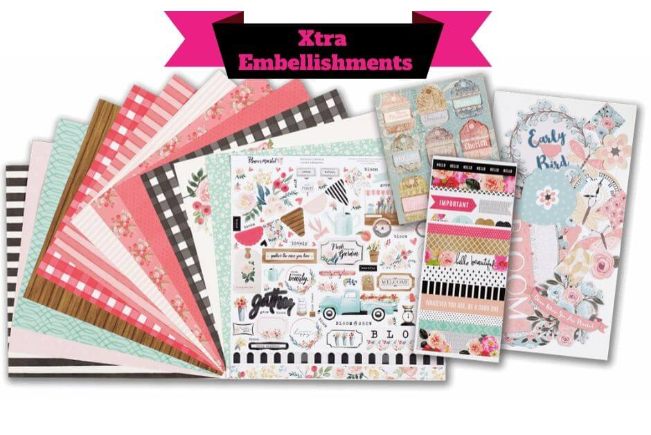 Scrapbooking Store - February 2020 Base Kit - Flower Market collection by Echo Park