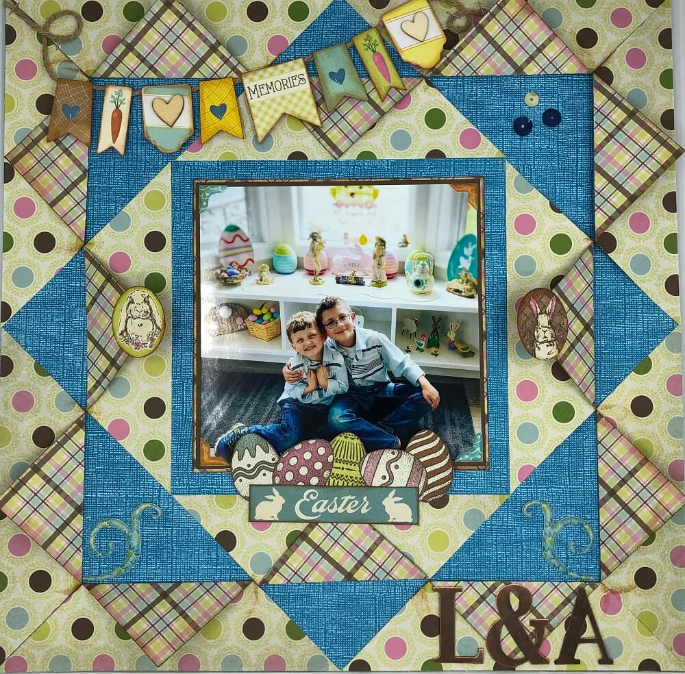6 Spring Scrapbook Layout Inspirations