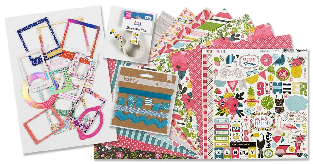 August scrapbooking kit Summer Fun by Echo Park