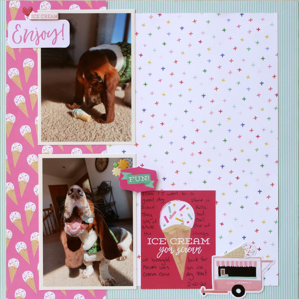 summer scrapbook ideas, sun layout, cool, scrapbooking tutorial, monthly kit layouts, paper crafts,