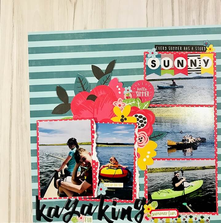 end of summer scrapbooking ideas