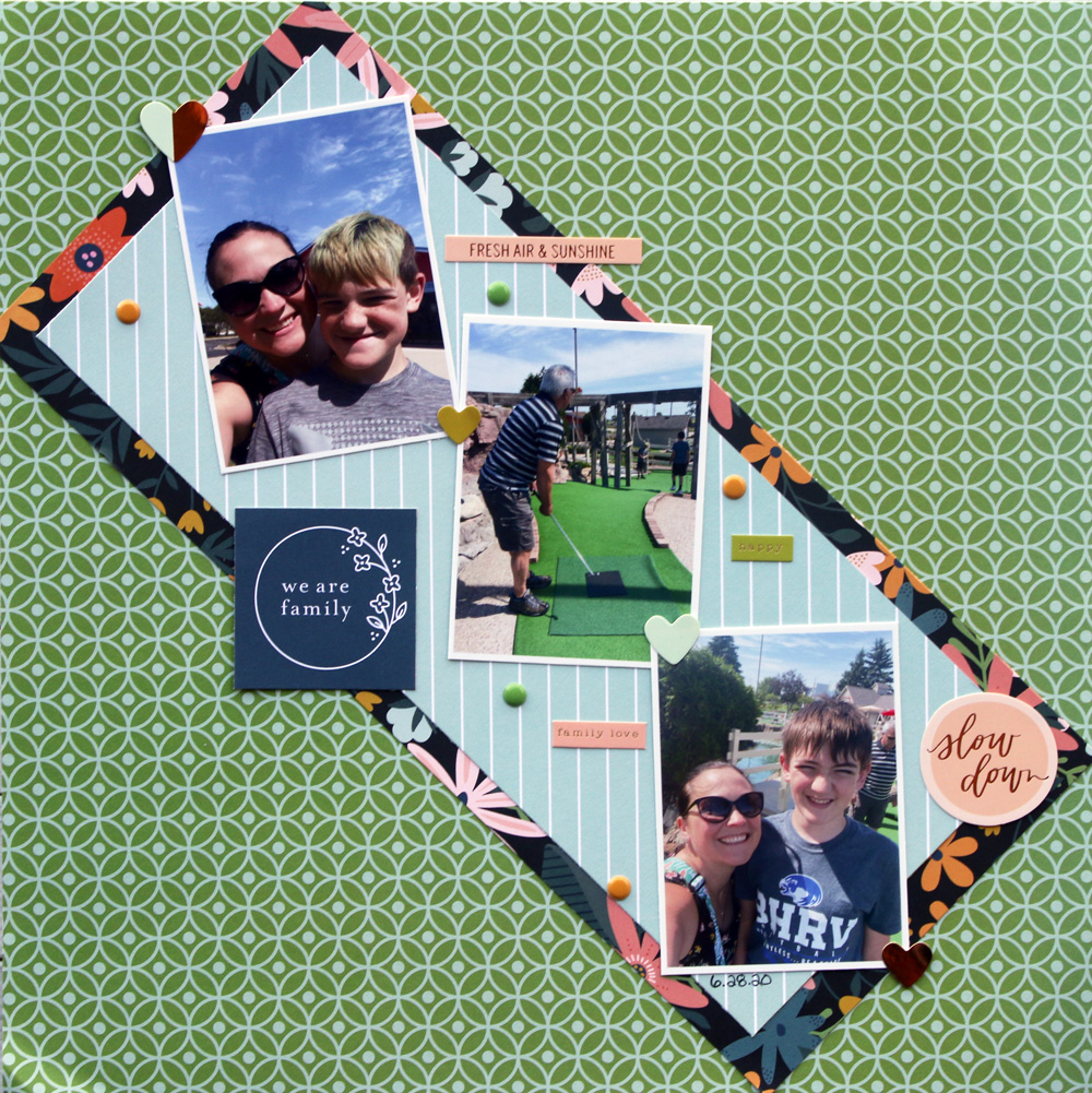 family inspired scrapbook