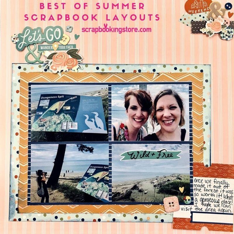 Best of Summer Scrapbook Layouts