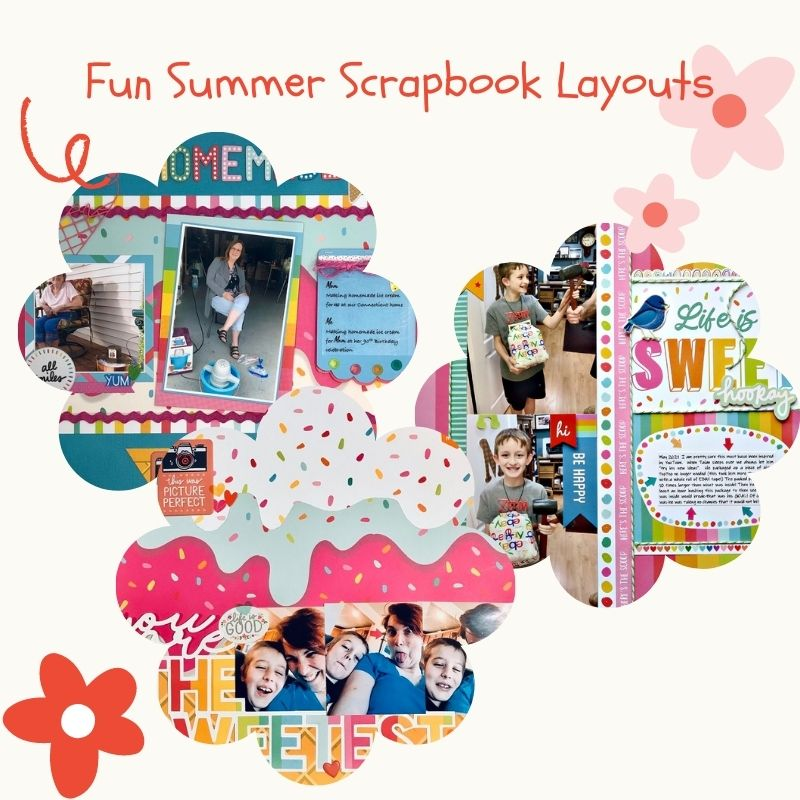 Fun Summer Scrapbook Layouts