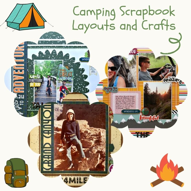 Camping Scrapbook Layouts and Crafts